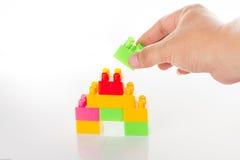 Bunter Toy Blocks Isolated auf Weiß Lizenzfreie Stockfotografie
