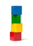 Bunter Toy Blocks Tower Stockfotografie