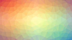 Bunter triangulierter Hintergrund Stockbild