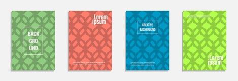 Bunter und moderner Abdeckungsentwurf Stellen Sie vom geometrischen Musterhintergrund ein vektor abbildung