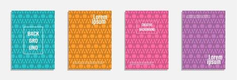 Bunter und moderner Abdeckungsentwurf Stellen Sie vom geometrischen Musterhintergrund ein lizenzfreie abbildung