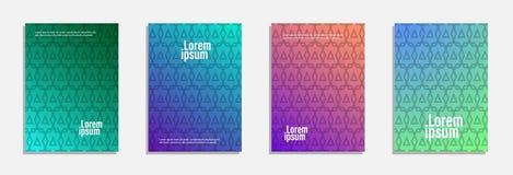 Bunter und moderner Abdeckungsentwurf Stellen Sie vom geometrischen Musterhintergrund ein stockbilder