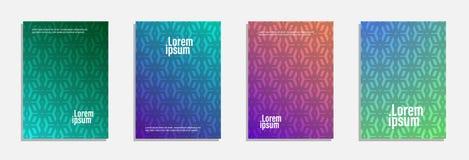 Bunter und moderner Abdeckungsentwurf Stellen Sie vom geometrischen Musterhintergrund ein lizenzfreie stockbilder