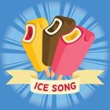 Bunter Vektor des Eiscreme-Liedes Lizenzfreies Stockbild