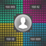 Bunter Vektor punktierter Hintergrund Persönliche Mehrfarbentapete mit Ihren Informationen Konzept-Illustrations-Design des Vekto Lizenzfreies Stockfoto