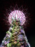 Bunter verzierter Baum des guten Rutsch ins Neue Jahr 2016 Stockfotos