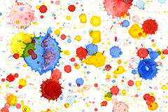 Bunter Wasserfarbspritzenhintergrund Stockfotos
