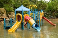 Bunter Wasserspielplatz Stockfoto