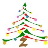 Bunter Weihnachtsbaum Stockfotos