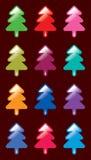 Bunter Weihnachtsbaum Stockbild