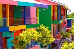 Bunter Wohnsitz in Koh Lan Stockfotos