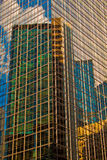 Bunter Wolkenkratzer Stockfotos