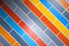 Bunter Ziegelstein-Hintergrund stock abbildung