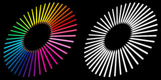 Buntes 3D übertrug pensils Stockfotografie