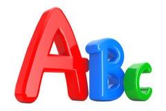 Buntes ABC-Erlernen- der Sprachezeichen Wiedergabe 3d vektor abbildung