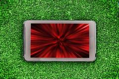 Buntes abstraktes Bild auf einem Smartphoneschirm Lizenzfreies Stockfoto