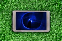 Buntes abstraktes Bild auf einem Smartphoneschirm Stockfotos