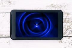Buntes abstraktes Bild auf einem Smartphoneschirm Lizenzfreie Stockfotografie