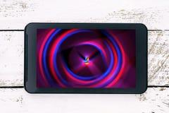 Buntes abstraktes Bild auf einem Smartphoneschirm Stockfotografie