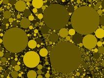 Buntes abstraktes gelbes Gold kreist Hintergrundillustration ein Lizenzfreies Stockbild