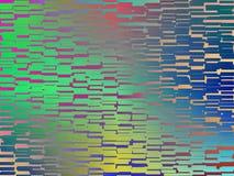 Buntes abstraktes gelbes grün-blaues Fliesenmalen Stockfotografie