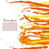 Buntes abstraktes Gelbes und Orange spritzt und beschmutzt Lizenzfreie Stockbilder
