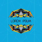 Buntes abstraktes geometrisches Design Lizenzfreies Stockbild