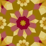 Buntes abstraktes geometrisches nahtloses mit Blumenmuster Stockfotografie