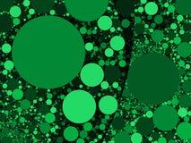 Buntes abstraktes Grün kreist Hintergrundillustration ein Lizenzfreies Stockfoto