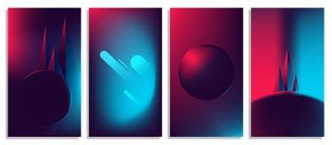 Buntes abstraktes helles Neon verwischte Steigungen, Retro- 80 ` s futuristischen Hintergrund vektor abbildung
