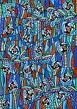 Buntes abstraktes Muster Stockfoto