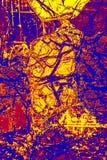 Buntes, abstraktes Muster des Minerals in einem Polarisierungsmikrographen Lizenzfreie Stockbilder