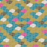 Buntes abstraktes Retro- Muster 10 des Vektors Stockfoto