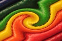 Buntes abstraktes Rotationsmuster für Hintergrund stockbild