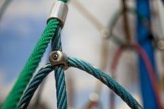 Buntes abstraktes Seil auf dem undeutlichen Hintergrund Lizenzfreies Stockfoto
