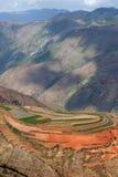Buntes Ackerland in dongchuan des Porzellans Stockfotografie