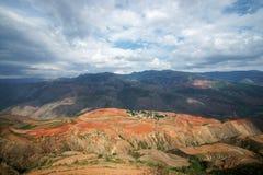Buntes Ackerland, dongchuan, Yunnan, Porzellan Lizenzfreie Stockfotografie