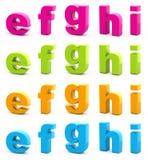 Buntes Alphabet. Lizenzfreie Stockfotografie