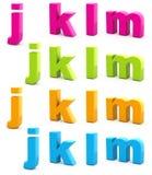 Buntes Alphabet. Stockbilder