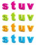 Buntes Alphabet. Stockfoto