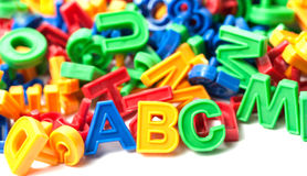 Buntes Alphabet Stockfoto