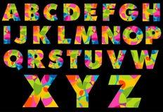 Buntes Alphabet Stockfotografie