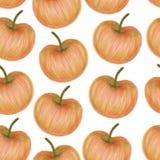 Buntes Apfelmuster Stockbild