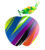 Buntes Apfelsymbol Lizenzfreie Stockbilder
