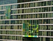 Buntes Bürohaus Stockbild