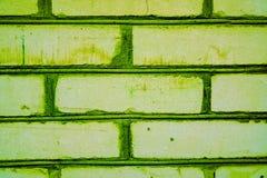 Buntes Backsteinmauermuster, gemalte Ziegelsteine als städtische Beschaffenheit Stockbilder