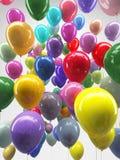 Buntes Ballonfliegen Lizenzfreie Stockbilder