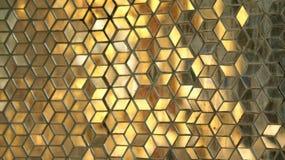 Buntes beflecktes goldenes Glas Lizenzfreies Stockfoto
