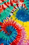 Buntes Bindungs-Färbungs-Strudel-Spiralen-Design-Muster stockfotos