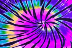 Buntes Bindungs-Färbungs-Strudel-Spiralen-Design-Muster Stockfotografie